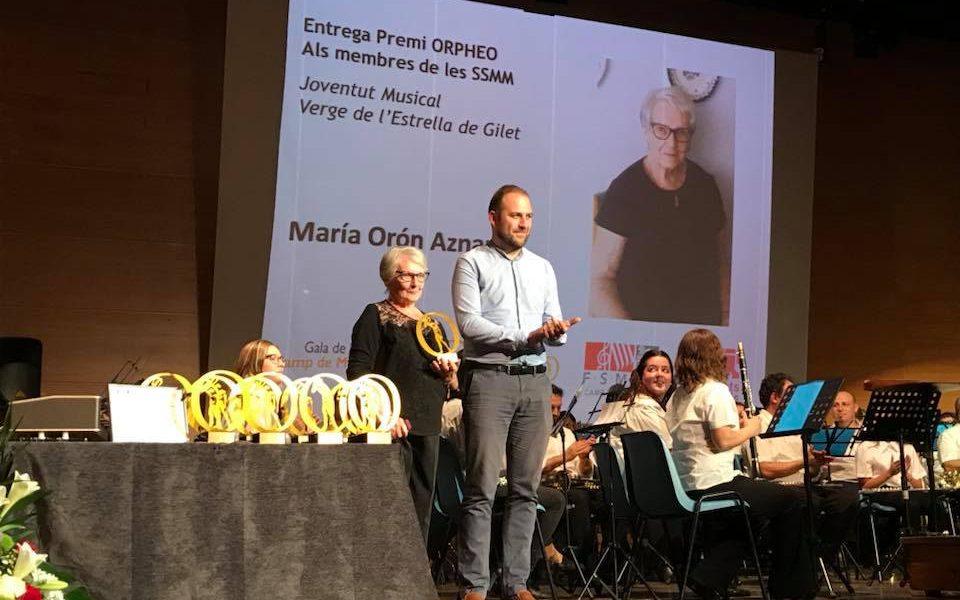 Les bandes comarcals premien la tasca de Maria Orón a la JMVE de Gilet